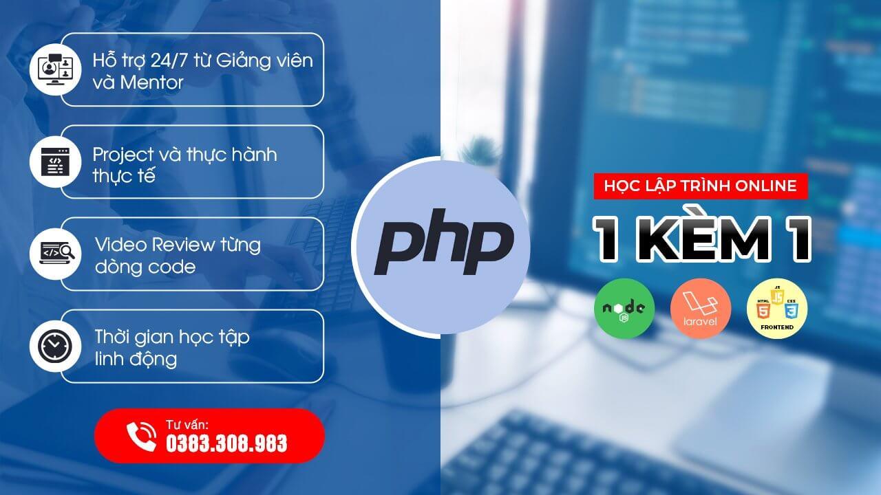 Lập trình viên PHP - 1 kèm 1 - Online từ xa